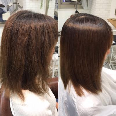 毛先のダメージも綺麗に髪質改善