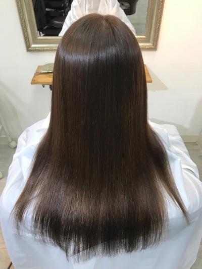 高品質縮毛矯正美髪矯正エンパニで髪質改善