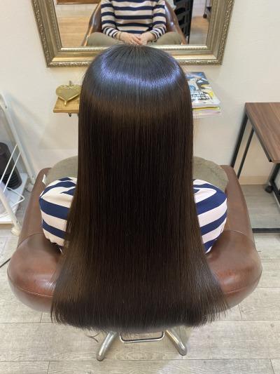 美髪矯正エンパニのツヤツヤ美髪